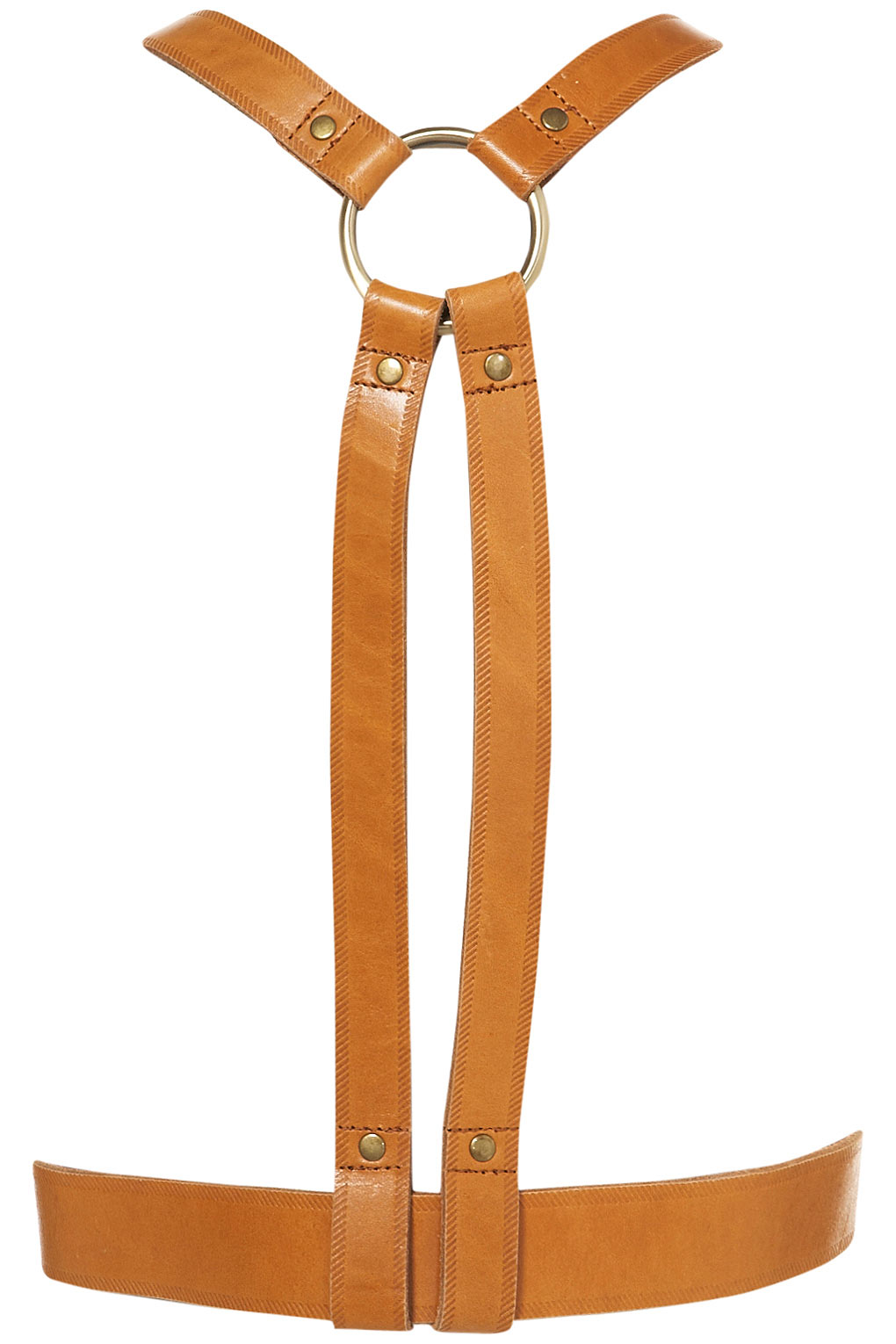 Lyst Topshop Leather Harness In Brown