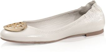 Tory Burch Tumbled Patent Leather Reva Ballet Flat - Lyst
