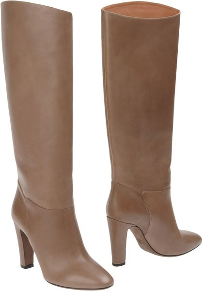 Valentino Highheeled Boots in Brown (grey) - Lyst