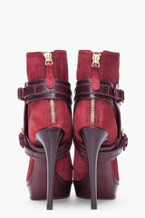 Alexander Mcqueen Oxblood Stirrup Buckle Boot in Red (oxblood) - Lyst