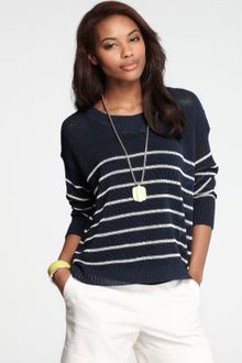 Ann Taylor Petite Nautical Stripe Sweater - Lyst