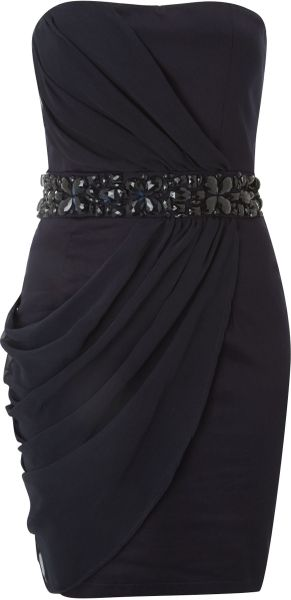 Ax Paris Ax Paris Jewelled Strapless Dress - Lyst