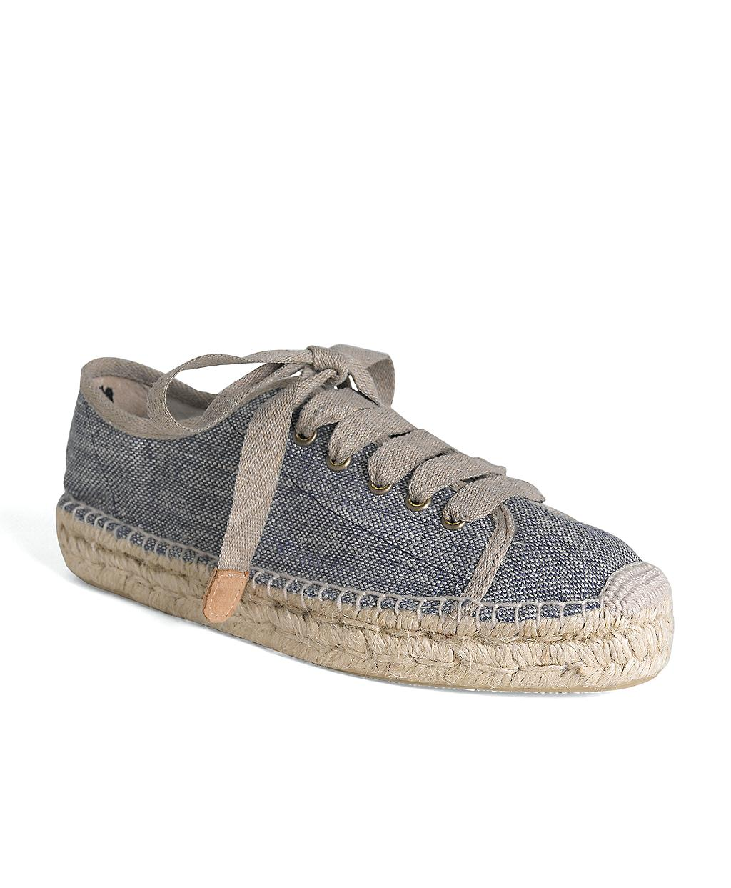 Lyst Brooks Brothers Canvas Sneaker Espadrille In Blue