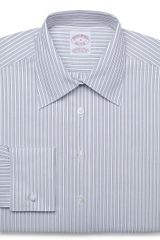 Brooks Brothers Noniron Classic Fit Multi Stripe Dress Shirt Withfrench Cuffs and Xla - Lyst