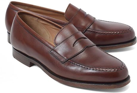 Brooks Brothers Peal Co Penny Loafers in Brown for Men - Lyst