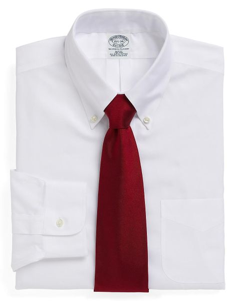Brooks brothers non iron regent fit button down collar for Brooks brothers dress shirt fit guide