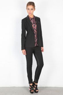 Elizabeth And James Leather Trimmed Rex Blazer - Lyst