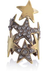 Emilio Pucci Crystal embellished Star Ring in Gold - Lyst