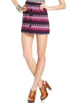 Free People Zigzag Knit Buttoned Mini - Lyst