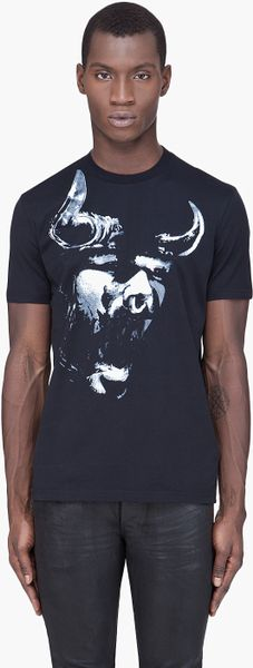 Givenchy Black Bull Tshirt in Black for Men - Lyst