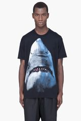 Givenchy Shark Print TShirt in Black for Men - Lyst