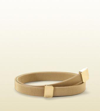 Gucci Skinny Metallic Belt with Interlocking Buckle - Lyst