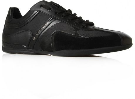 Hugo Boss Seamon Lo Pro Snkr in Black for Men (black/leather fabric) - Lyst