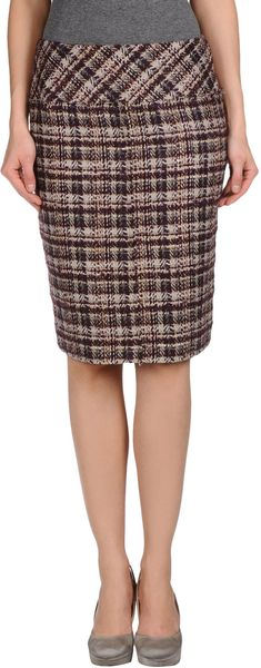 La Via 18 Knee Length Skirt - Lyst