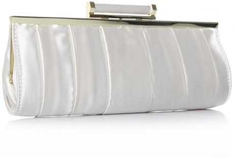 Nine West Racket Sml Clutch in White (champagne) - Lyst
