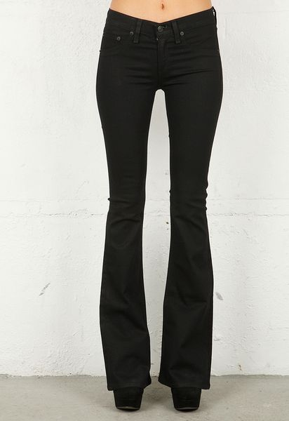 Rag & Bone Legging Bell Bottom in Midnight in Black (midnight) - Lyst