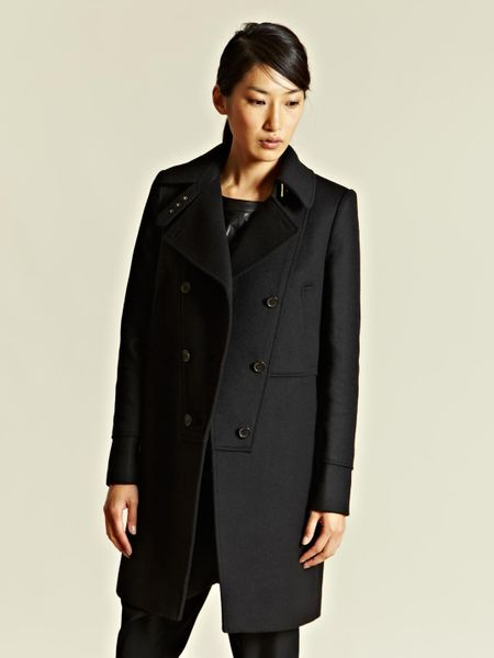 Givenchy Womens Angora Blend Manteau Coat in Black - Lyst