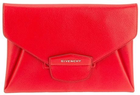 Givenchy Antigona Envelope Clutch in Red - Lyst