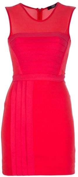 Markus Lupfer Irena Dress in Red - Lyst