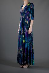 Matthew Williamson Patterned Maxi Dress in Blue - Lyst
