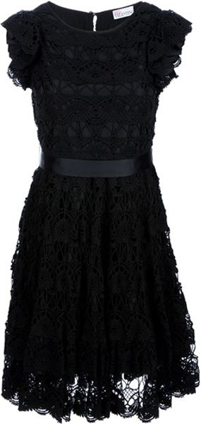 RED Valentino Crochet Sash Dress - Lyst