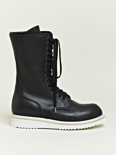 rick owens rick owens womens work boots in black lyst