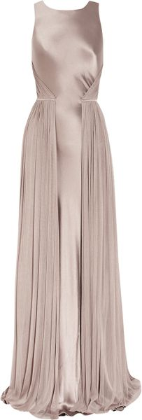 Amanda Wakeley Silksatin and Mesh Gown - Lyst