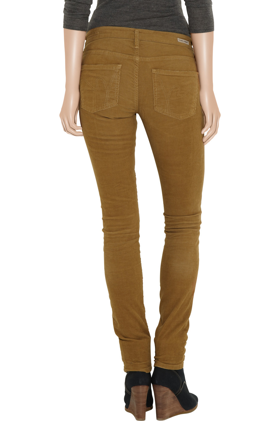 citizens of humanity avedon skinny corduroy pants in brown. Black Bedroom Furniture Sets. Home Design Ideas