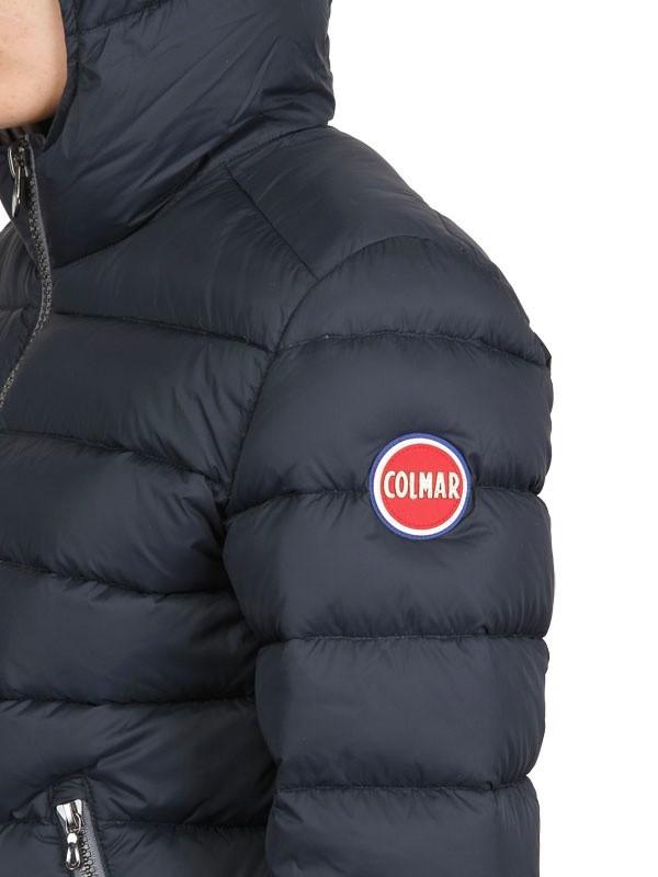 Lyst Colmar Hooded Matt Nylon Light Down Jacket In Blue