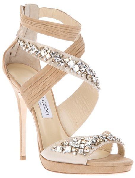 Jimmy Choo Embellished Shoe in Beige (nude)