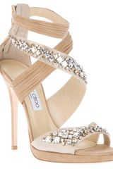 Jimmy Choo Embellished Shoe in Beige (nude) - Lyst