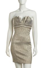 Laundry By Shelli Segal Beaded Strapless Cocktail Dress - Lyst