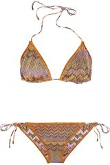 Missoni Reversible Triangle Bikini - Lyst