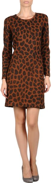 3.1 Phillip Lim Short Dress in Animal (lead) - Lyst