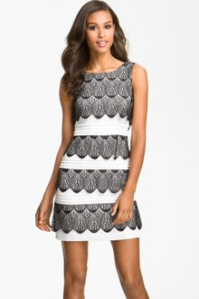 White Cocktail Dress on Bcbgmaxazria Silk Tiered Ruffle Dress In White   Lyst
