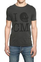 Cheap Monday Printed Cotton Jersey Tshirt in Gray for Men (black) - Lyst