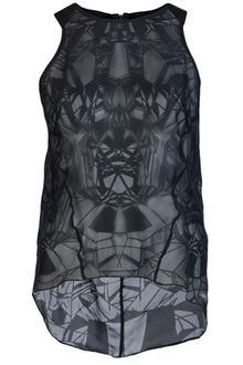Helmut Lang Spider Burnout Sheer Tank - Lyst
