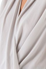 Helmut Lang Soft Twist Top in White - Lyst