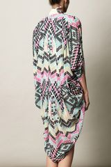 Mara Hoffman Maya Print Cocoon Coverup in Multicolor (black) - Lyst