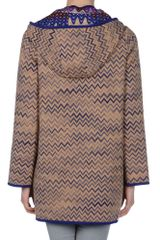 Missoni Short Coat in Blue (coral) - Lyst