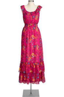 Maternity Maxi Dress on Derhy Strappy Machination Ruffle Maxi Dress Purple In Purple   Lyst