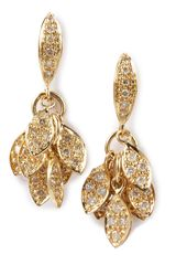 Sydney Evan Small Leaf Earrings - Lyst