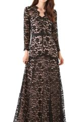 Temperley London Amoret Lace Maxi Dress - Lyst