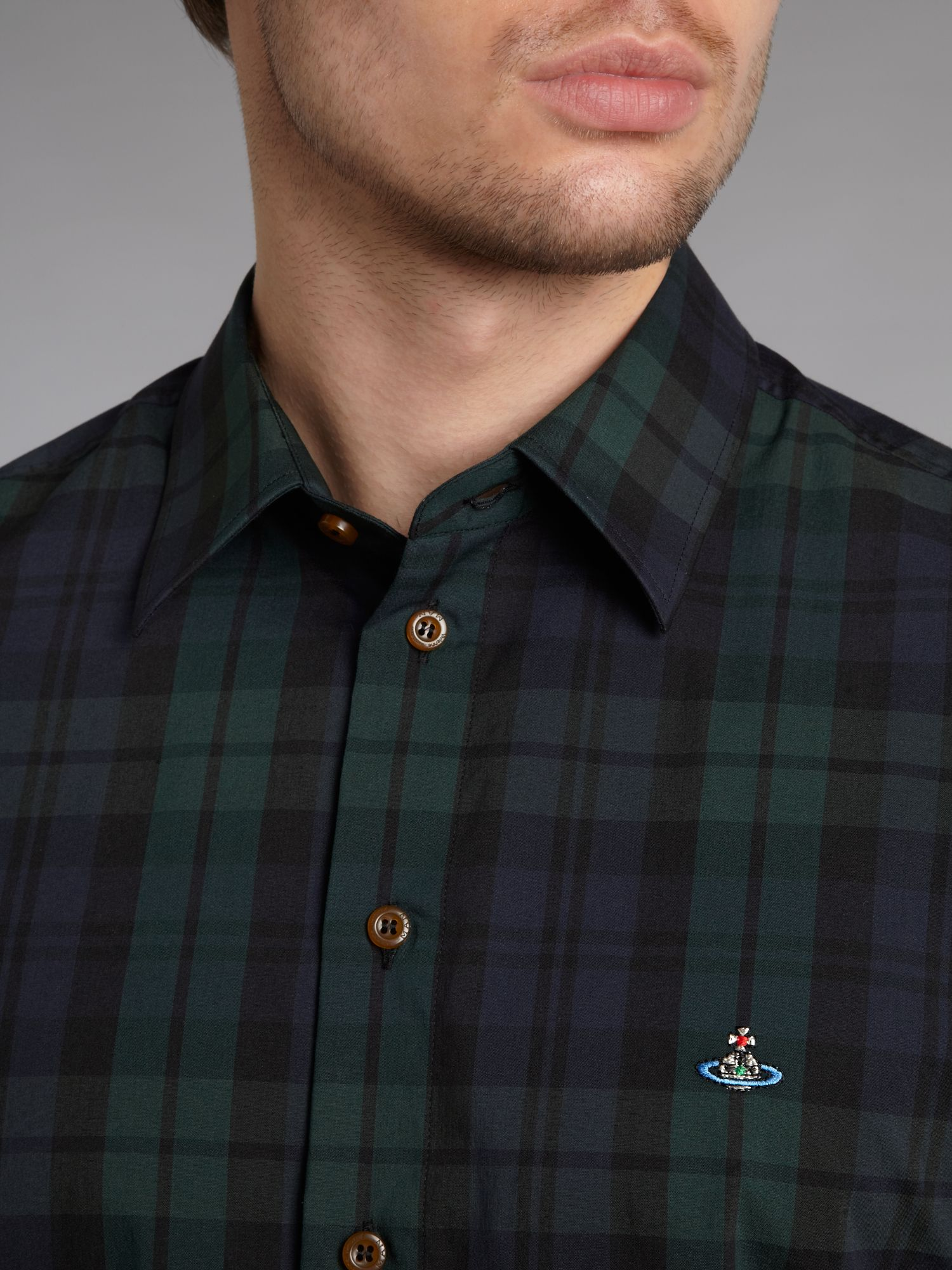 Vivienne westwood Tartan Shirt in Green for Men | Lyst