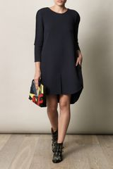 3.1 Phillip Lim Step Hem Dress in Blue (navy) - Lyst