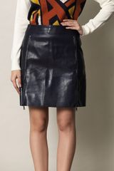 3.1 Phillip Lim Zip Front Leather Skirt - Lyst