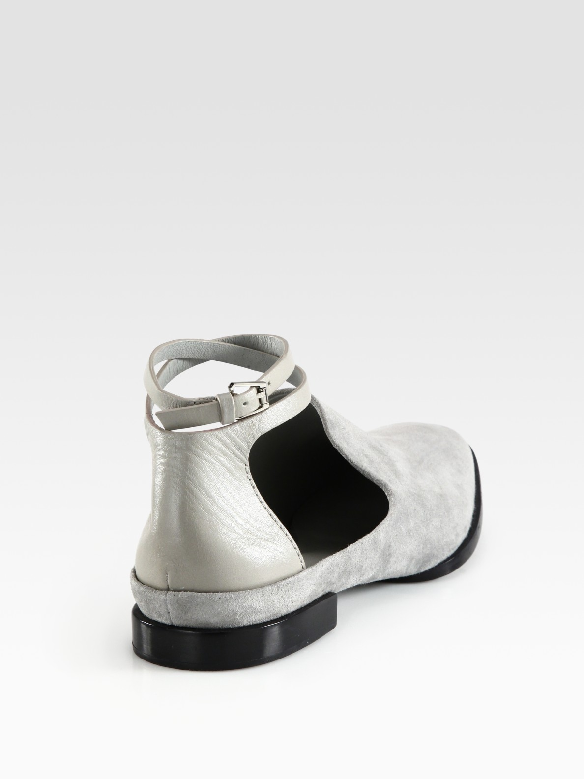 0d6d091ba1a Lyst - Alexander Wang Astrid Suede and Leather Ankle Strap Loafers ...