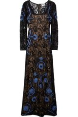 Alice By Temperley Magdalena Ribbon Appliquéd Lace Dress - Lyst
