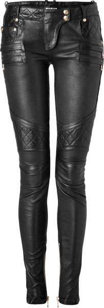Balmain Black Studded and Patched Pants - Lyst