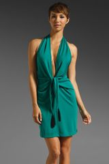 BCBGMAXAZRIA Tie Waist Mini Dress - Lyst